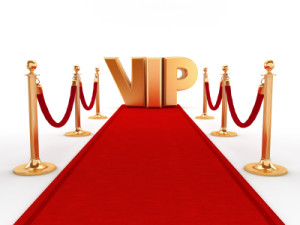 Rolling out the Red Carpet with VIP of dimensions 300 wide by 225 high