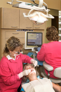 Asheboro NC Dentist Cheryl Freeman with her patient